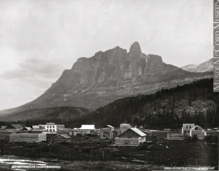 Photograph | Silver City and Castle Mountain, near Banff, AB, 1884 | VIEW-1352