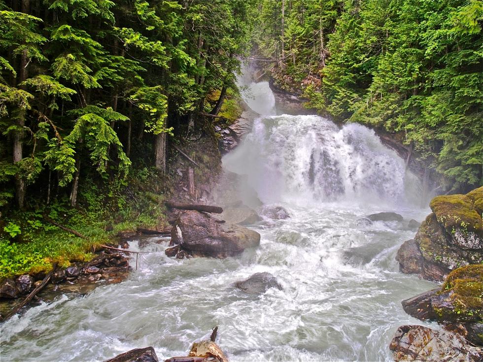 Crazy Creek wide open